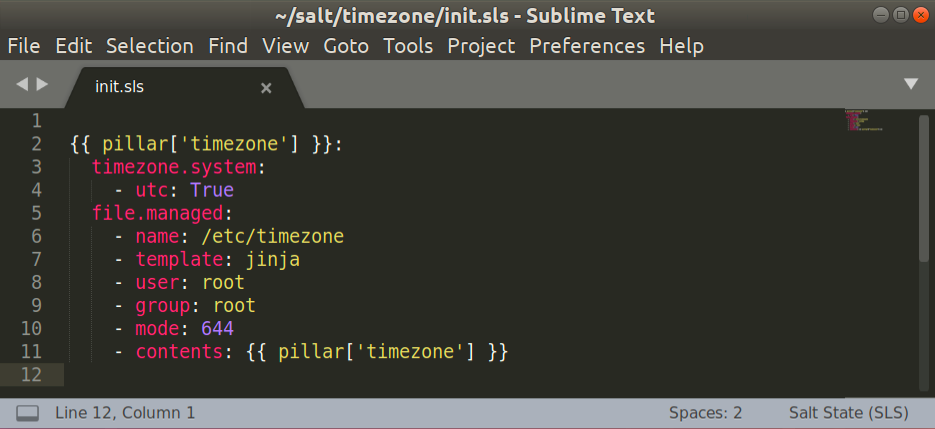 SaltStack plugin for Sublime Text